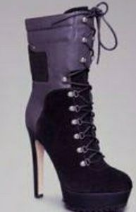 Bebe Evie suede lace up ankle boots sz 10 NWT